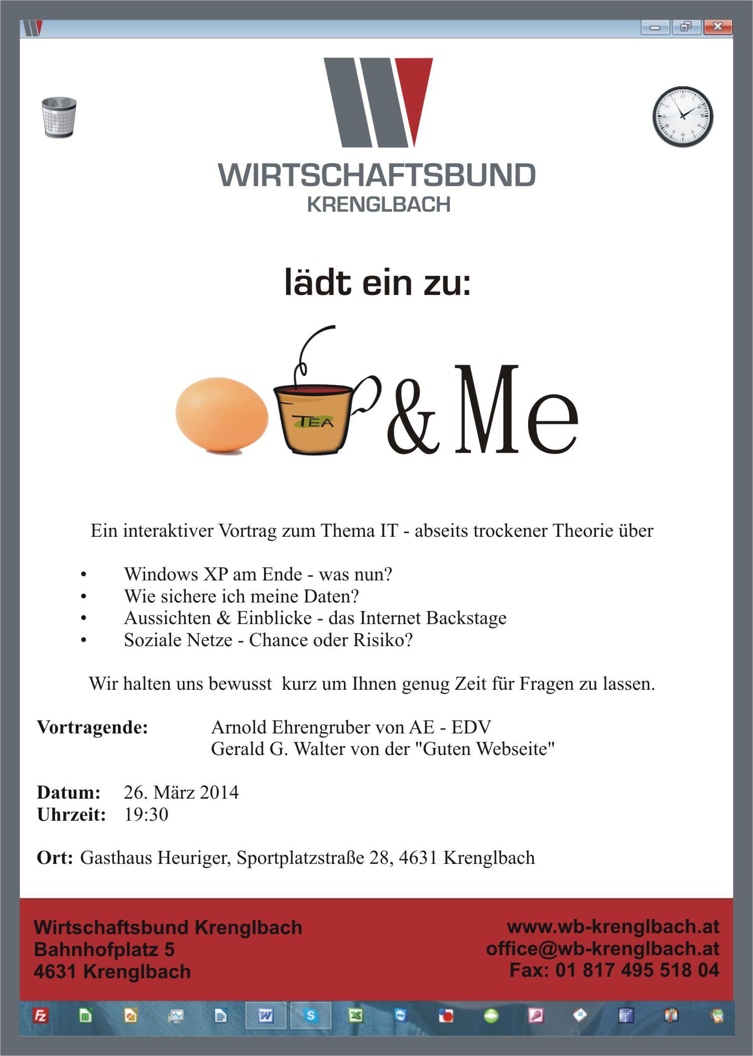26.03.2014 – IT & Me – Eine Veranstaltung des WB-Krenglbach